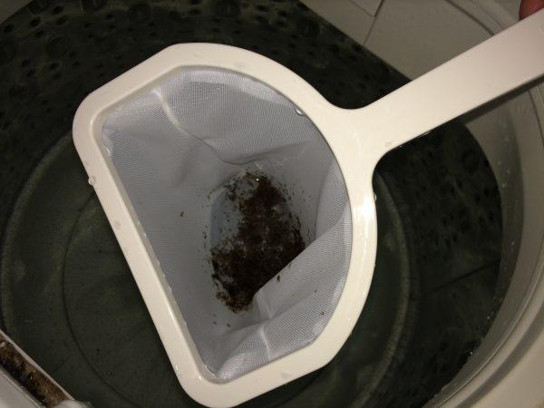 ゴミをすくう