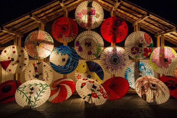 和紙で張られた和傘