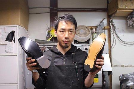 革靴のかかとゴム修理を取材!どんな靴も自然に直す匠の神ワザを