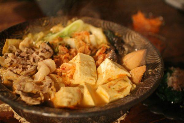美味しそうなキムチ鍋である